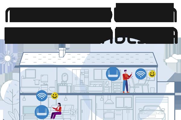 solución wifi megabestia con tecnología mesh