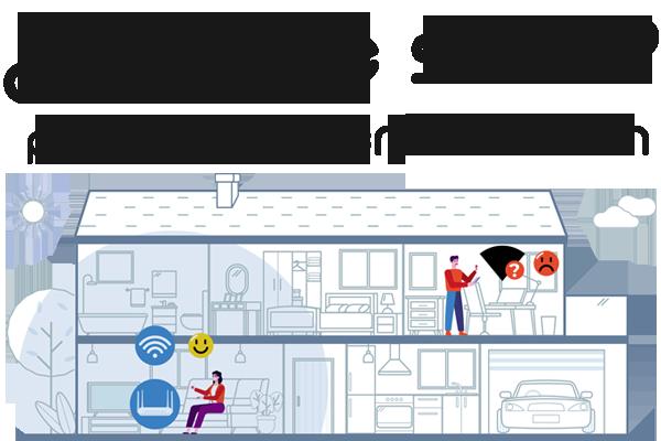 la solución a los problemas de cobertura wifi